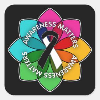 Carcinoid Cancer Awareness Matters Petals Stickers