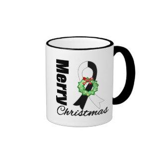 Carcinoid Cancer Awareness Merry Christmas Ribbon Coffee Mug
