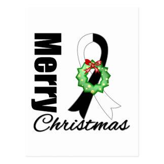 Carcinoid Cancer Awareness Merry Christmas Ribbon Postcard