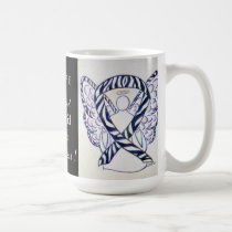 Carcinoid Cancer Awareness Ribbon Angel Custom Mug