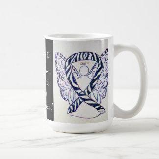 Carcinoid Cancer Awareness Ribbon Angel Custom Mug
