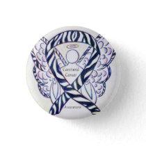 Carcinoid Cancer Awareness Ribbon Angel Custom Pin