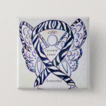 Carcinoid Cancer Awareness Ribbon Angel Pin