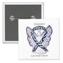 Carcinoid Cancer Awareness Ribbon Angel Pin