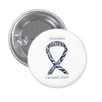Carcinoid Cancer Awareness Ribbon Custom Pin