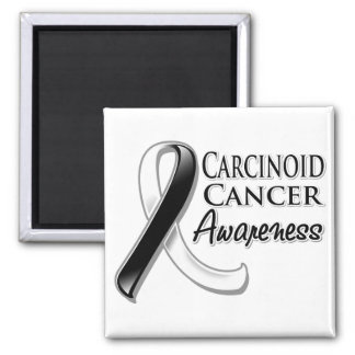 Carcinoid Cancer Awareness Ribbon 2 Inch Square Magnet