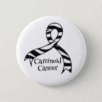 Carcinoid Cancer Awareness Zebra Ribbon Button
