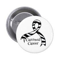 Carcinoid Cancer Awareness Zebra Ribbon Button