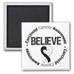 Carcinoid Cancer BELIEVE Fridge Magnets
