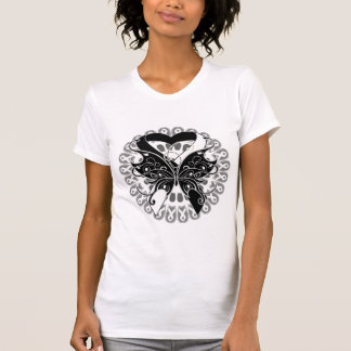 Carcinoid Cancer Butterfly Circle of Ribbons Tshirt