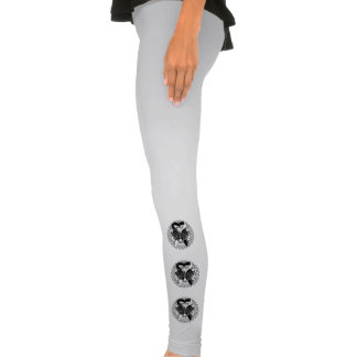 Carcinoid Cancer Butterfly Heart Ribbon Legging