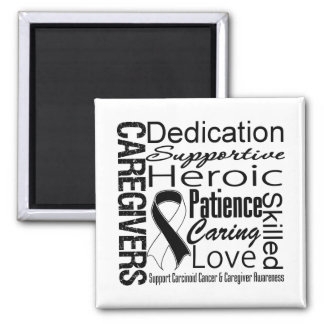 Carcinoid Cancer Caregivers Collage 2 Inch Square Magnet