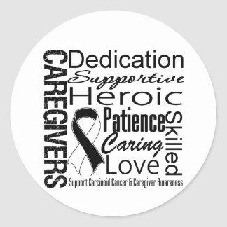Carcinoid Cancer Caregivers Collage Classic Round Sticker