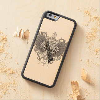 Carcinoid Cancer Cool Awareness Wings Carved® Maple iPhone 6 Bumper Case