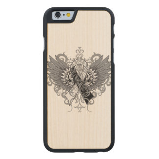 Carcinoid Cancer Cool Awareness Wings Carved® Maple iPhone 6 Case