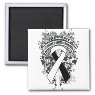 Carcinoid Cancer - Cool Support Awareness Slogan 2 Inch Square Magnet