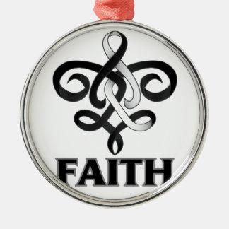 Carcinoid Cancer Faith Fleur de Lis Ribbon Christmas Tree Ornament