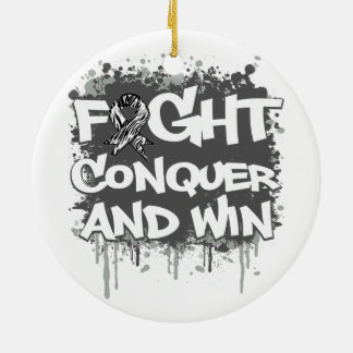 Carcinoid Cancer Fight Conquer and Win Christmas Ornaments