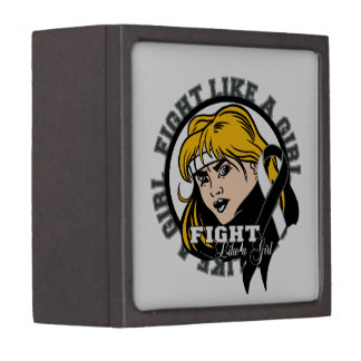 Carcinoid Cancer Fight Like A Girl Attitude Premium Trinket Box