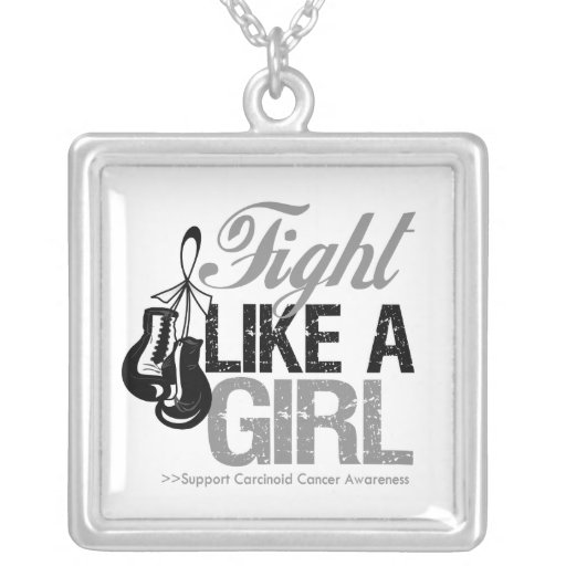 Carcinoid Cancer Fight Like a Girl Boxing Gloves Custom Jewelry