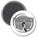 Carcinoid Cancer Fight Like A Girl Circular Magnet