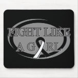 Carcinoid Cancer Fight Like A Girl Circular Mouse Pad