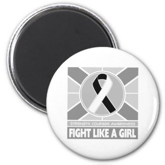 Carcinoid Cancer Fight Like A Girl Flag Refrigerator Magnet