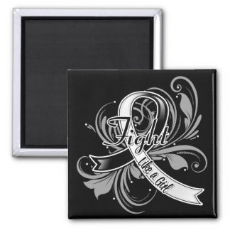 Carcinoid Cancer Fight Like a Girl Flourish Magnets