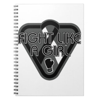 Carcinoid Cancer Fight Like A Girl Glove Spiral Notebooks