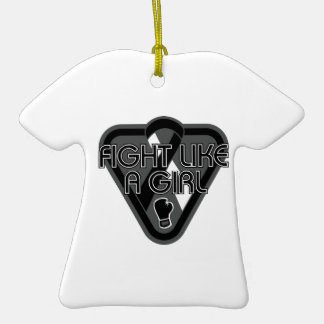 Carcinoid Cancer Fight Like A Girl Glove Ornaments