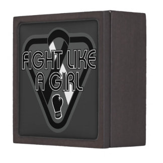 Carcinoid Cancer Fight Like A Girl Glove Premium Gift Box