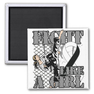 Carcinoid Cancer Fight Like A Girl Kick Refrigerator Magnet