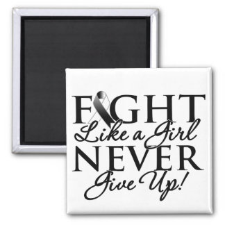 Carcinoid Cancer Fight Like a Girl Never Give Up Refrigerator Magnet