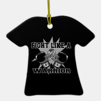 Carcinoid Cancer Fight Like a Warrior Ornaments