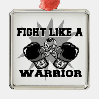 Carcinoid Cancer Fight Like a Warrior Christmas Tree Ornament