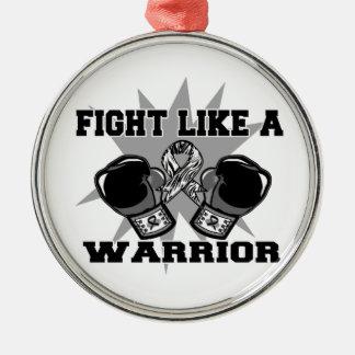 Carcinoid Cancer Fight Like a Warrior Christmas Ornament