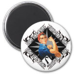 Carcinoid Cancer Fight Rosie The Riveter Refrigerator Magnet