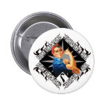 Carcinoid Cancer Fight Rosie The Riveter Pin