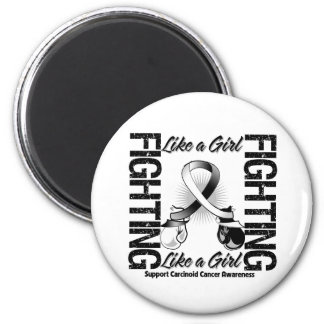 Carcinoid Cancer FIGHTING Like a Girl Refrigerator Magnets