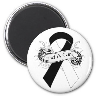 Carcinoid Cancer Find A Cure Ribbon 2 Inch Round Magnet