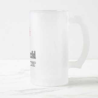 Carcinoid Cancer Frosted Glass Beer Mug