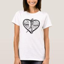 Carcinoid Cancer Heart Ribbon T-Shirt