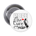 Carcinoid Cancer Hope Love Cure 2 Inch Round Button