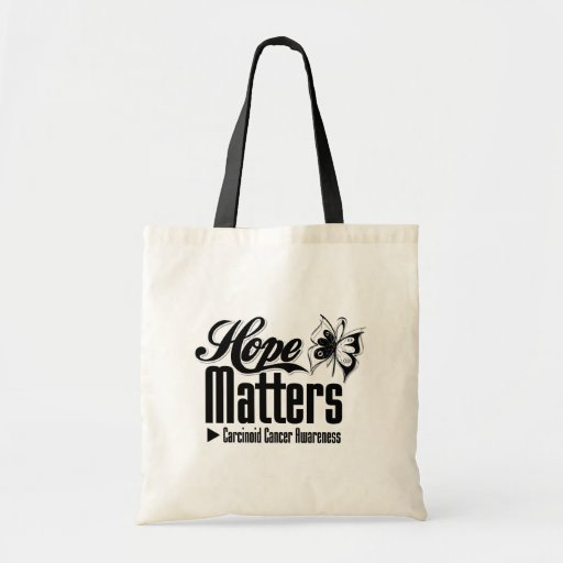 Carcinoid Cancer HOPE MATTERS Tote Bags