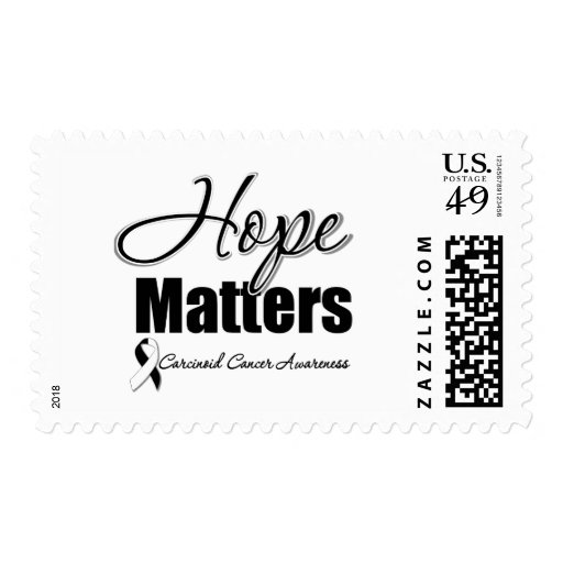 Carcinoid Cancer HOPE MATTERS Stamps
