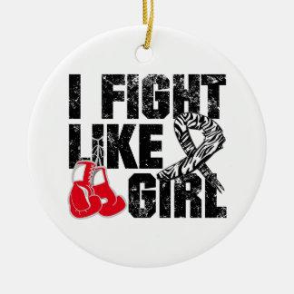 Carcinoid Cancer I Fight Like A Girl (Grunge) Christmas Tree Ornament