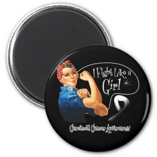 Carcinoid Cancer I Fight Like a Girl Rosie Riveter Magnet