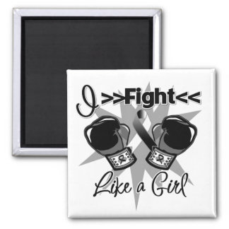 Carcinoid Cancer I Fight Like a Girl With Gloves Refrigerator Magnets
