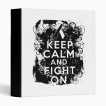 Carcinoid Cancer Keep Calm and Fight On Vinyl Binders