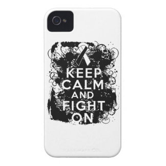 Carcinoid Cancer Keep Calm and Fight On Case-Mate iPhone 4 Cases